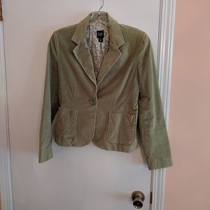 GAP velvet light green jacket/blazer
